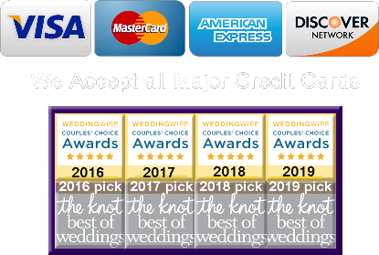 We Accept All Credit Cards NY WEDDING LIMOS