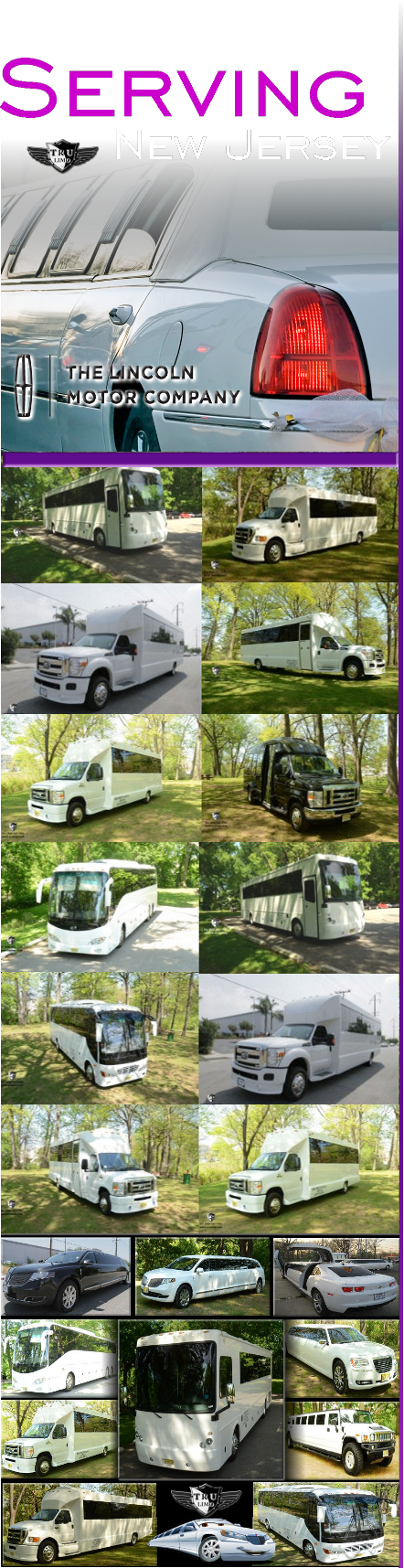 nj townships party bus limos LIMO NJ RENTAL SERVICE